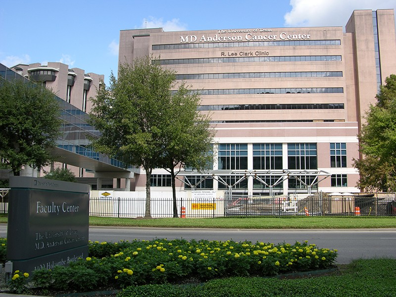 The MD Anderson Cancer Center in Houston, Texas
