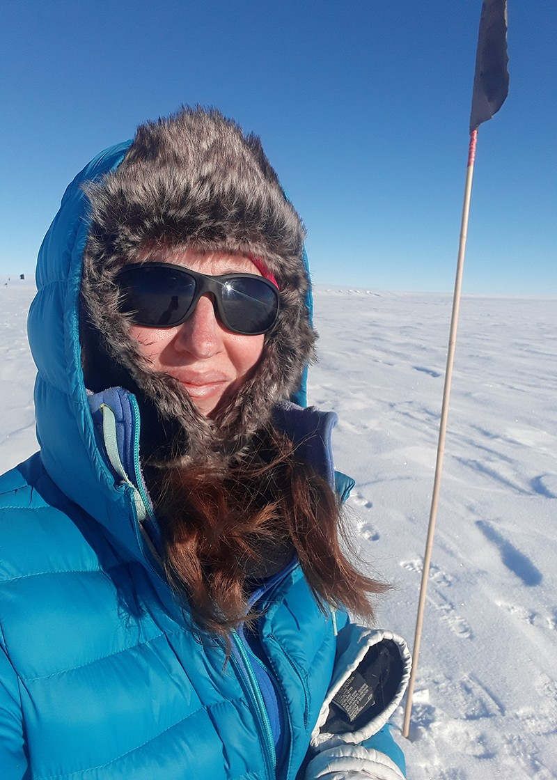 Katherine Joy in Antarctica