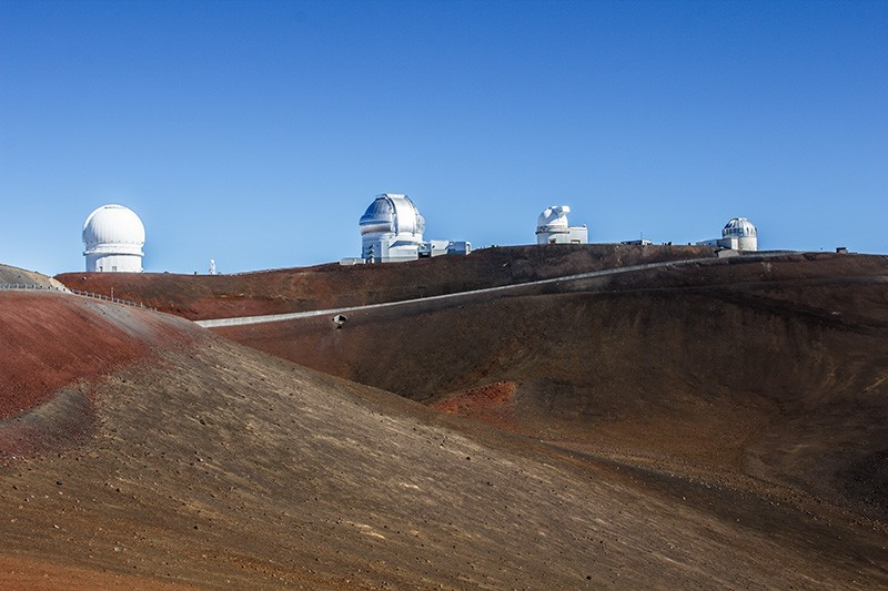Telescopes at the summit of Mauna Kea