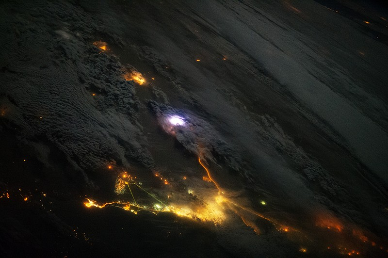 thunderstorm, from space