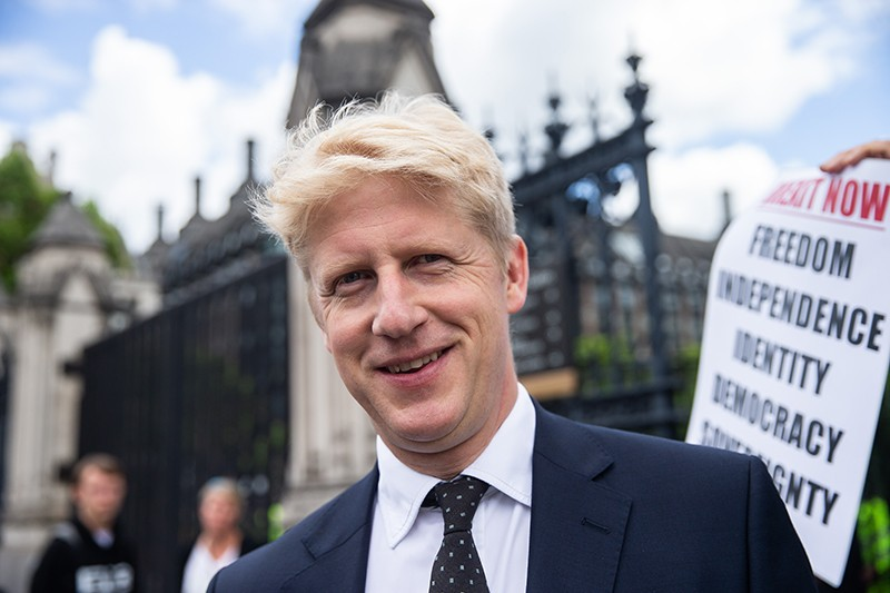 Jo Johnson, brother of Conservative leadership candidate Boris Johnson, is seen leaving parliament on June 20, 2019.