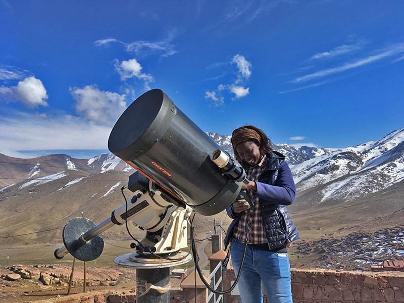 Salma Sylla Mbaye at Oukaimeden Observatory Morocco.