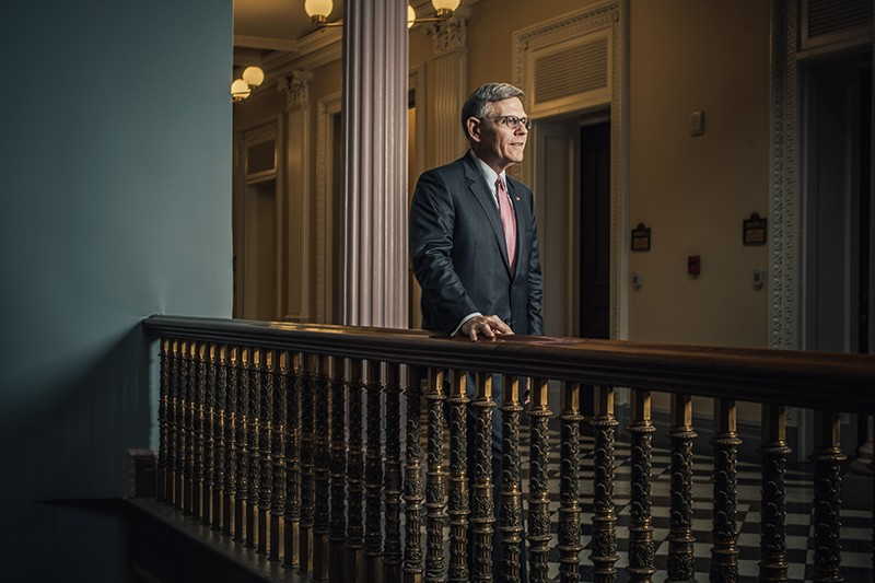 Director of the Office of Science and Technology Policy Kelvin Droegemeier at his offices in Washington, DC