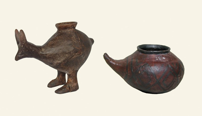 Selection of Late Bronze/Early Iron Age feeding vessels.