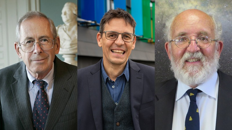 Prof James Peebles/Prof Didier Queloz/Prof Michel Mayor (Left to Right)