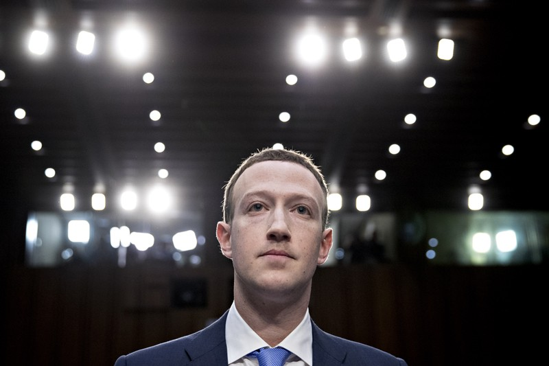Mark Zuckerberg waits to begin a joint hearing of the Senate Judiciary and Commerce Committees in Washington, DC.