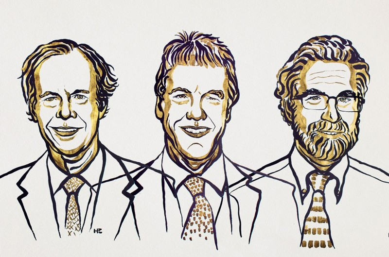 William G. Kaelin Jr, Sir Peter J. Ratcliffe and Gregg L. Semenza illustration