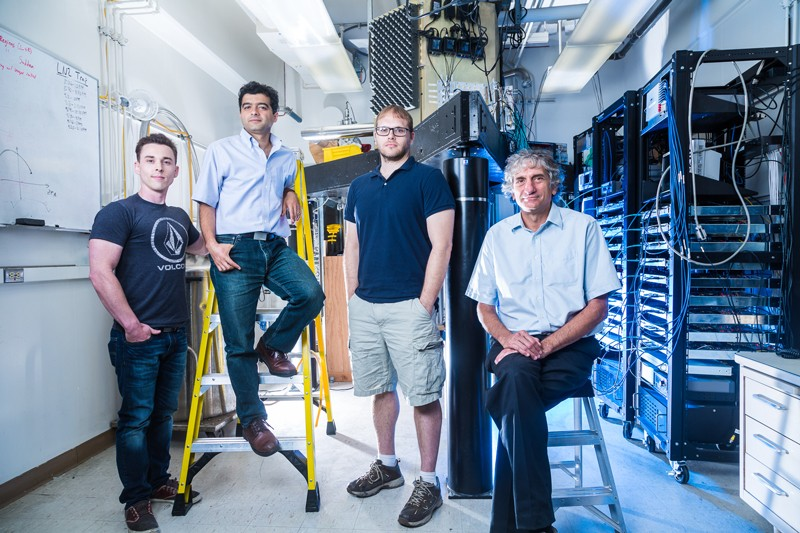 Researchers of the UCSB Google quantum computing group