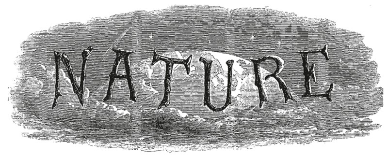 The original logo for Nature from 1869