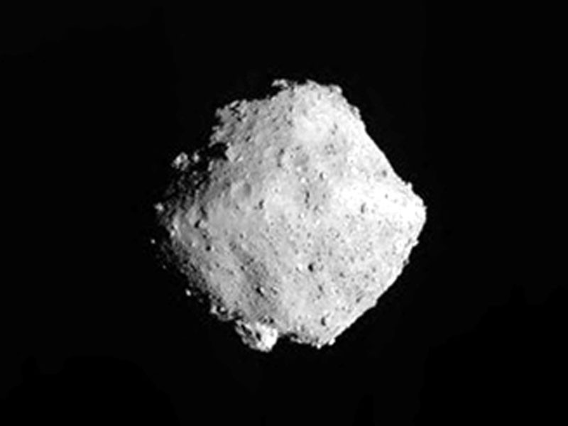 Navigation Image from the Ryugu asteroid departure.