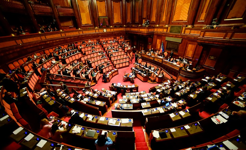 A general view shows the Italian Senate